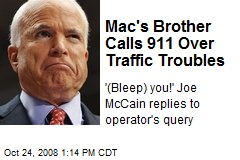 Mac's Brother Calls 911 Over Traffic Troubles