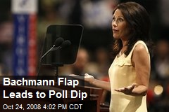 Bachmann Flap Leads to Poll Dip