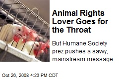 Animal Rights Lover Goes for the Throat