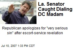La. Senator Caught Dialing DC Madam
