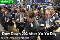Dow Down 203 After Yo-Yo Day