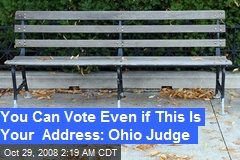 You Can Vote Even if This Is Your Address: Ohio Judge