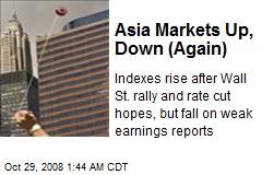 Asia Markets Up, Down (Again)