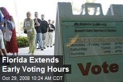 Florida Extends Early Voting Hours