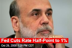 Fed Cuts Rate Half-Point to 1%