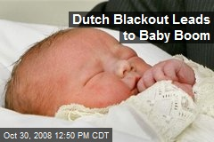 Dutch Blackout Leads to Baby Boom