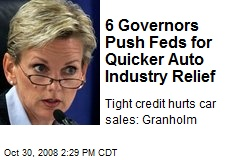 6 Governors Push Feds for Quicker Auto Industry Relief