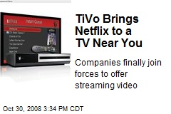 TiVo Brings Netflix to a TV Near You