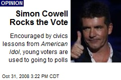 Simon Cowell Rocks the Vote