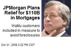 JPMorgan Plans Relief for $110B in Mortgages