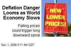Deflation Danger Looms as World Economy Slows