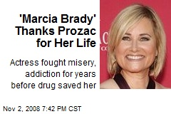 'Marcia Brady' Thanks Prozac for Her Life