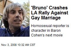 'Bruno' Crashes LA Rally Against Gay Marriage