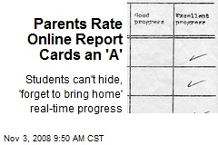 Parents Rate Online Report Cards an 'A'