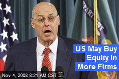 US May Buy Equity in More Firms