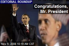 Congratulations, Mr. President