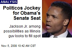 Politicos Jockey for Obama's Senate Seat
