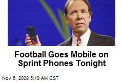 Football Goes Mobile on Sprint Phones Tonight