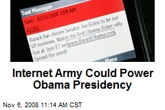 Internet Army Could Power Obama Presidency