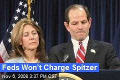 Feds Won't Charge Spitzer