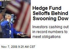 Hedge Fund Selloffs Behind Swooning Dow