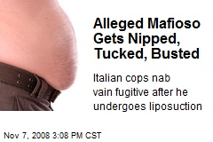 Alleged Mafioso Gets Nipped, Tucked, Busted