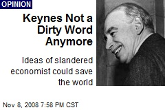 Keynes Not a Dirty Word Anymore
