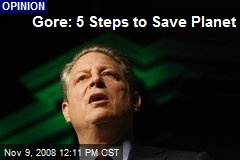 Gore: 5 Steps to Save Planet
