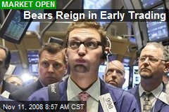 Bears Reign in Early Trading