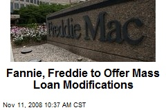 Fannie, Freddie to Offer Mass Loan Modifications