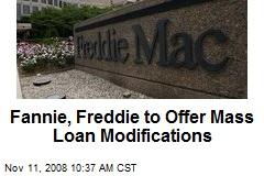 Fannie, Freddie to Offer Mass Loan Modifications