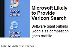 Microsoft Likely to Provide Verizon Search