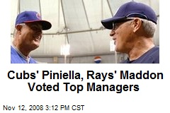 Cubs' Piniella, Rays' Maddon Voted Top Managers