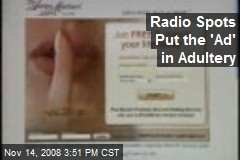Radio Spots Put the 'Ad' in Adultery