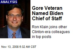 Gore Veteran Named Biden Chief of Staff