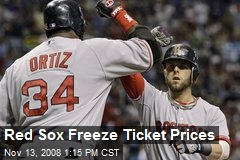 Red Sox Freeze Ticket Prices