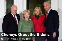 Cheneys Greet the Bidens