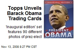 Topps Unveils Barack Obama Trading Cards