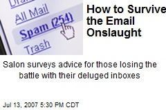 How to Survive the Email Onslaught