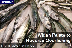 Widen Palate to Reverse Overfishing