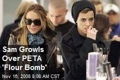 Sam Growls Over PETA 'Flour Bomb'