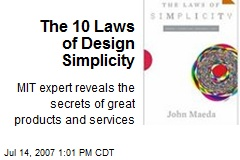 The 10 Laws of Design Simplicity
