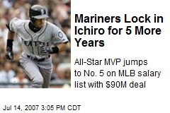 Mariners Lock in Ichiro for 5 More Years