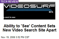 Ability to 'See' Content Sets New Video Search Site Apart