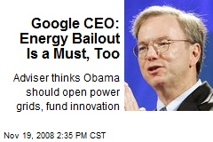 Google CEO: Energy Bailout Is a Must, Too
