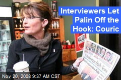 Interviewers Let Palin Off the Hook: Couric