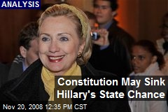Constitution May Sink Hillary's State Chance
