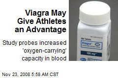 Viagra May Give Athletes an Advantage