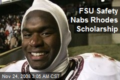 FSU Safety Nabs Rhodes Scholarship