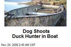 Dog Shoots Duck Hunter in Boat